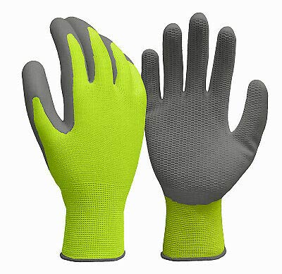 True Grip 98822-26 Men's Hi-viz Yellow Honeycomb Pattern Glove, Large