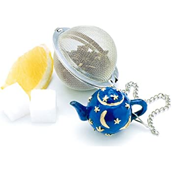 Norpro Stainless Steel 2-Inch Mesh Tea Infuser Ball with Teapot Weight