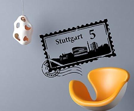 Tatuaje de Pared Skyline Stuttgart Ciudad Sellos Sello de Correos ...