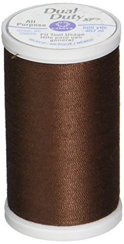 Quilting Clark & Coats Machine (Coats S930-8890 Dual Duty XP General Purpose Thread, 500-Yard, Dark Brown)