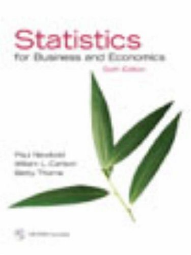 Statistics for Business and Economics and Student CD (6th Edition) -  Newbold, Paul, Hardcover