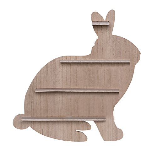 Bloomingville Wood Bunny Shaped Shelf