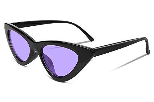 FEISEDY Small Cat Eye Design Clout Goggles Kurt Cobain Sunglasses - Men Cat Glasses Eye