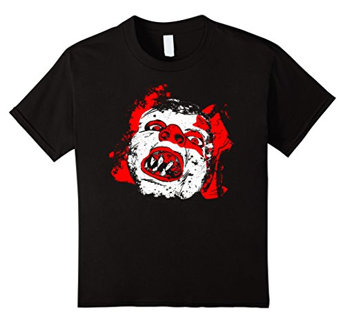 Freaky Scary Halloween Costumes (Kids Scary Clown Shirt - Halloween Freaky Clown Costume T-Shirt 8 Black)