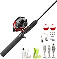 """Zebco 202 Spincast Combo Tackle Kit, 2.8:1 Gear Ratio, 5'6"""" Length, Right Hand, Multi, One Size (1245"""