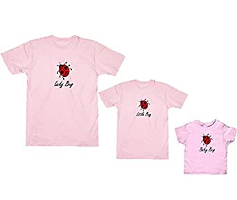 Lady Bug Pink Shirt - Adult X-Small, S/S (333)