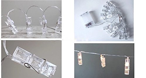 Miaro L4 40 LED Photo Clips String, Wedding Party Christmas Indoor Home Decor Lights, White by Miaro (Image #1)