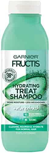 Garnier Fructis Hydrating Treat Shampoo, 98 Percent Naturally Derived Ingredients, Aloe, Nourish and Hydrate for Normal Hair, 11.8 fl. oz.
