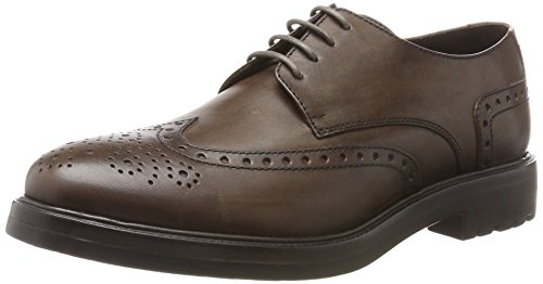 Lumberjack Herren State Brogue-Schuhe Marrone (Brown)