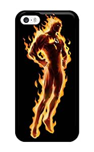 Hot 8838345K51990740 Quality MarvinDGarcia Case Cover With Human Torch Nice Appearance Compatible With Iphone 5/5s