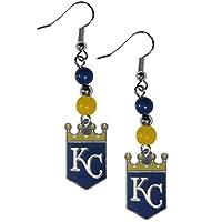 Kansas City Royals Fan Bead Dangle Earrings