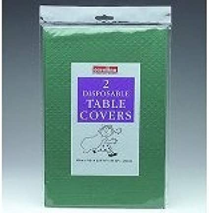 Caroline DARK GREEN Paper Table cloths 2 per pack {90cm x 90cm} by Every-occasion-party-supplies