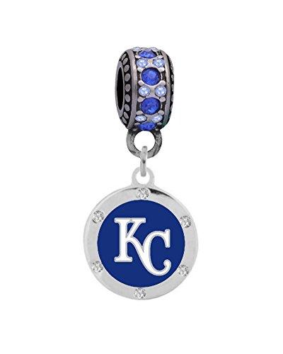 Kansas City Royals Charm - Kansas City Royals Round Crystal Charm