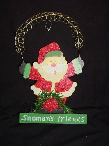 Premier Decorations 32cm Standing Santa Christmas Card Holder- P22