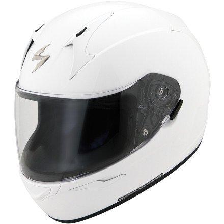 ScorpionExo Unisex-Adult full-face-helmet-style EXO-R410 Helmet (White,Medium), 1 Pack