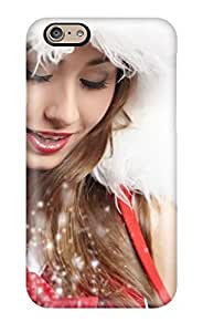 Defender Case For Iphone 6, Magic Christmas Dust Red Brunette Cute Hot Holiday Other Pattern