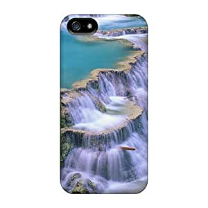 New Style Jesussmars Turquoise Cascades Premium Tpu Cover Case For Iphone 5/5s