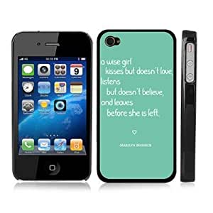 iphone covers Cute Turquoise Marilyn Monroe Inspirational Quote Snap-On Cover w/ Black Hard Carrying Case for Iphone 5c