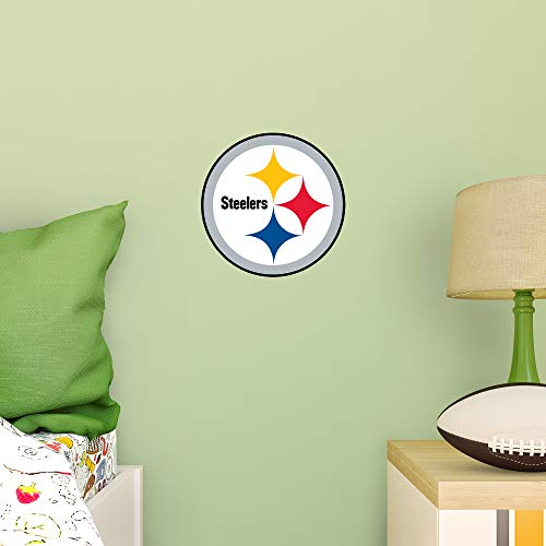 NFL Pittsburgh Steelers - Logo Teammate- Officially Licensed Removable Wall Decal, Multicolor, Big