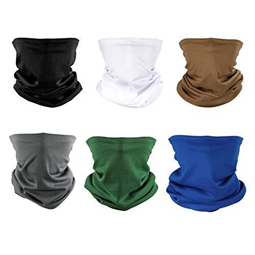 Neck Gaiter Headband Set - Neck Balaclava and Sport Scarf UV Protection Face Neck Bandana for Fishing Running