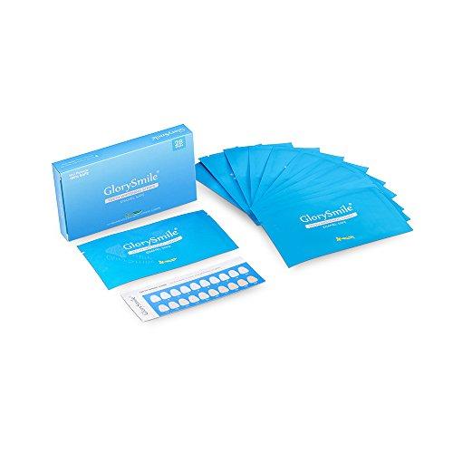 GlorySmile Professional Non-Peroxide Teeth Whitening Strips Kit for Sensitive Teeth, 14 Treatments 28 Strips with 100% ENAMEL SAFE Whitestrips Using Home Easy