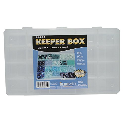 Keeper Box Bead, Craft Supplies, Findings, or Tool Organizer Large 13 X 7.5-20 Compartments - KPR3 by Keeper