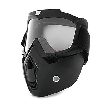 Casco de motocicleta desmontable con protección antiUV, resistente al viento, máscara de equitación