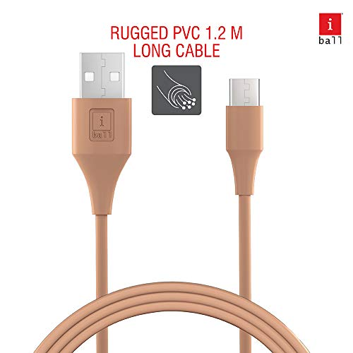 iBall IB-Type-C 1.2M USB Charge & Data Sync 1.2 Meter Long Fast Charging Cable (Desert Sand)