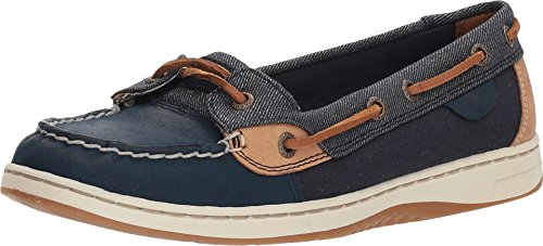Sperry Blue Shoes - Sperry Top-Sider Angelfish Boat Shoes, Navy/Bretton, 7.5 US / 38 EU
