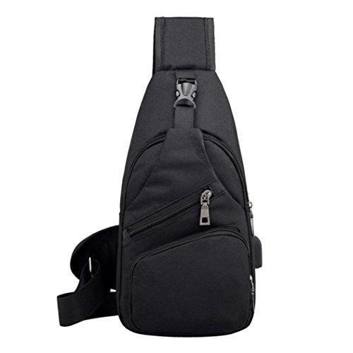 Casual Muium Outdoor Chest Black Bag Unisex Crossbody Bag Fashion Multifunction 7rHqwU7CF