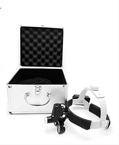 Zgood 3.5 X 420mm LED Surgical Headlight Headband Loupe with 3W LED Headlight DY-106 + Aluminum Box