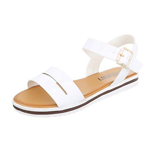Ital-Design - Tira de tobillo Mujer , color blanco, talla 38