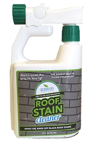 Wash Safe Industries WS-RC-HE Roof Stain Cleaner, Hose End Bottle, 32 oz. Spray Jug, Green by Wash Safe Industries
