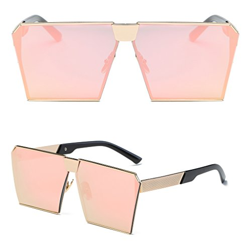 Niceskin Retro Oversized Mirrored Sunglasses Shades for Women, Resin and Metal - Sunglasses Shades Difference