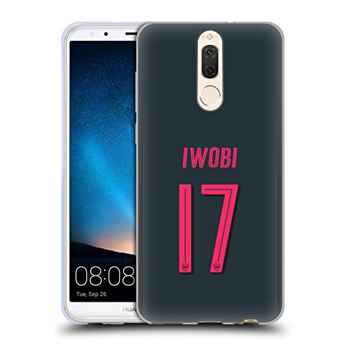 Official Arsenal FC Alex Iwobi 2017/18 Players Third Kit Group 1 Soft Gel Case for Huawei Mate 10 Lite
