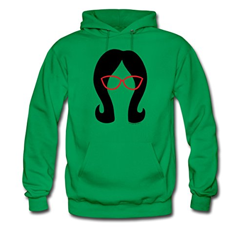 Bob's Burgers Linda Silhouette Men's Hoodie by Spreadshirt, 2XL, kelly green (Mens Silhouette Hoodie)
