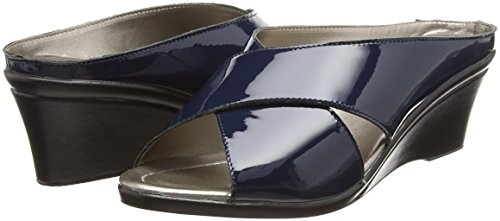 Lotus Women's Trino Mules Blue (Navy Patent) DX9xhb