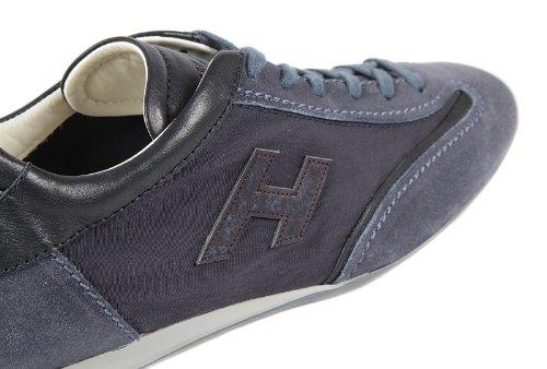 Hogan chaussures baskets sneakers homme en cuir olympia blu