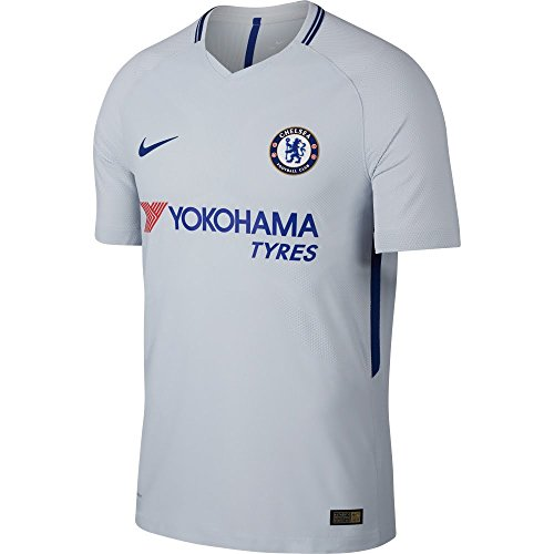 Nike Breathe Kids' Chelsea FC Away Stadium Soccer Jersey (Youth Medium) Pure Platinum by Nike