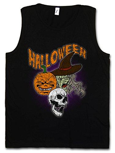 Urban Backwoods Halloween Faces Men Tank Top Vest