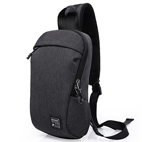 Fengju Sling Backpacks Travel Backpack Crossbody Bag Sling Bag Chest Bag (mini size, black) (Valuable Box Maple)