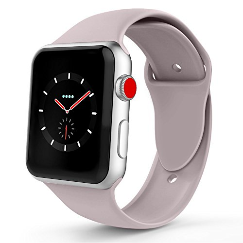 Lavender Apple - iYou Sport Band Compatible for Apple Watch Band 38MM 42MM, Soft Silicone Replacement Sport Strap Compatible for iWatch 2017 Apple Watch Series 3/2/1, Edition, Nike+, All Models More Colors Choose
