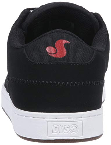 Pictures of DVS Men's Quentin Skate Shoe Black Wax Canvas 8