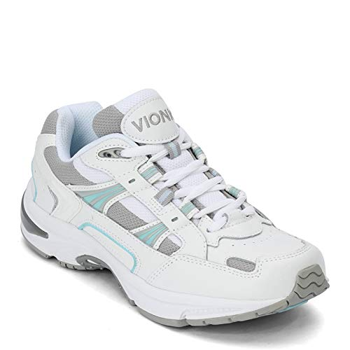 Vionic Womens, Walker Classic Sneaker White Blue 9.5 D