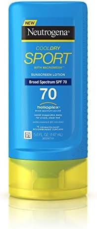 Neutrogena Cool Dry Sport Sunscreen Lotion, SPF 70, 5 Fluid Ounce (6 Pack)