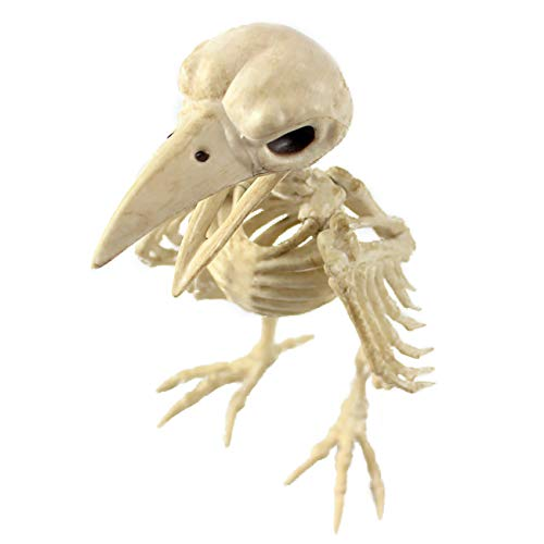 THEE Scary Animal Crow Bones Simulation Skeleton Party Halloween Decoration -