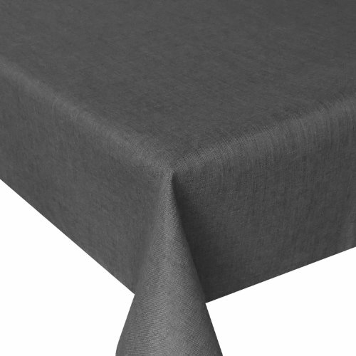 Leinen Optik - Eckig Farbe & Größe wählbar - 130 x 160 bzw. 130x160 bzw. 160x130 cm Grau mit Lotus Effekt Tischwäsche mit Fleckschutz - Grau TD Eckig 130 x 160 cm