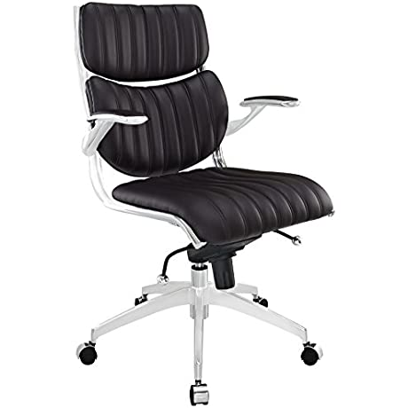 Modway Escape Mid Back Office Chair Brown