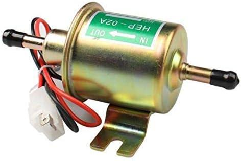 Miazhou Pompe Carburant /Électrique Essence 12V en Ligne Universel HEP-02A R/ésistant Alliage DAluminium