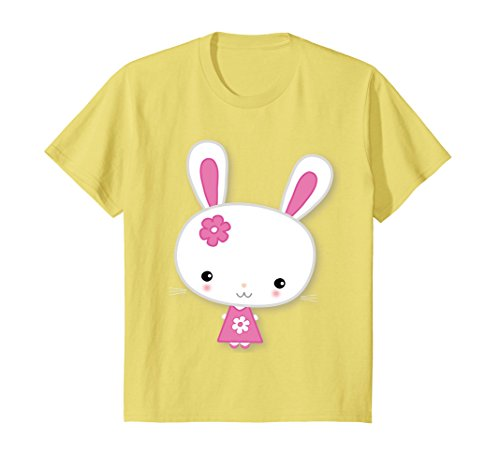 - Kids Easter Bunny T Shirt With Cute Pink Flower 8 Lemon